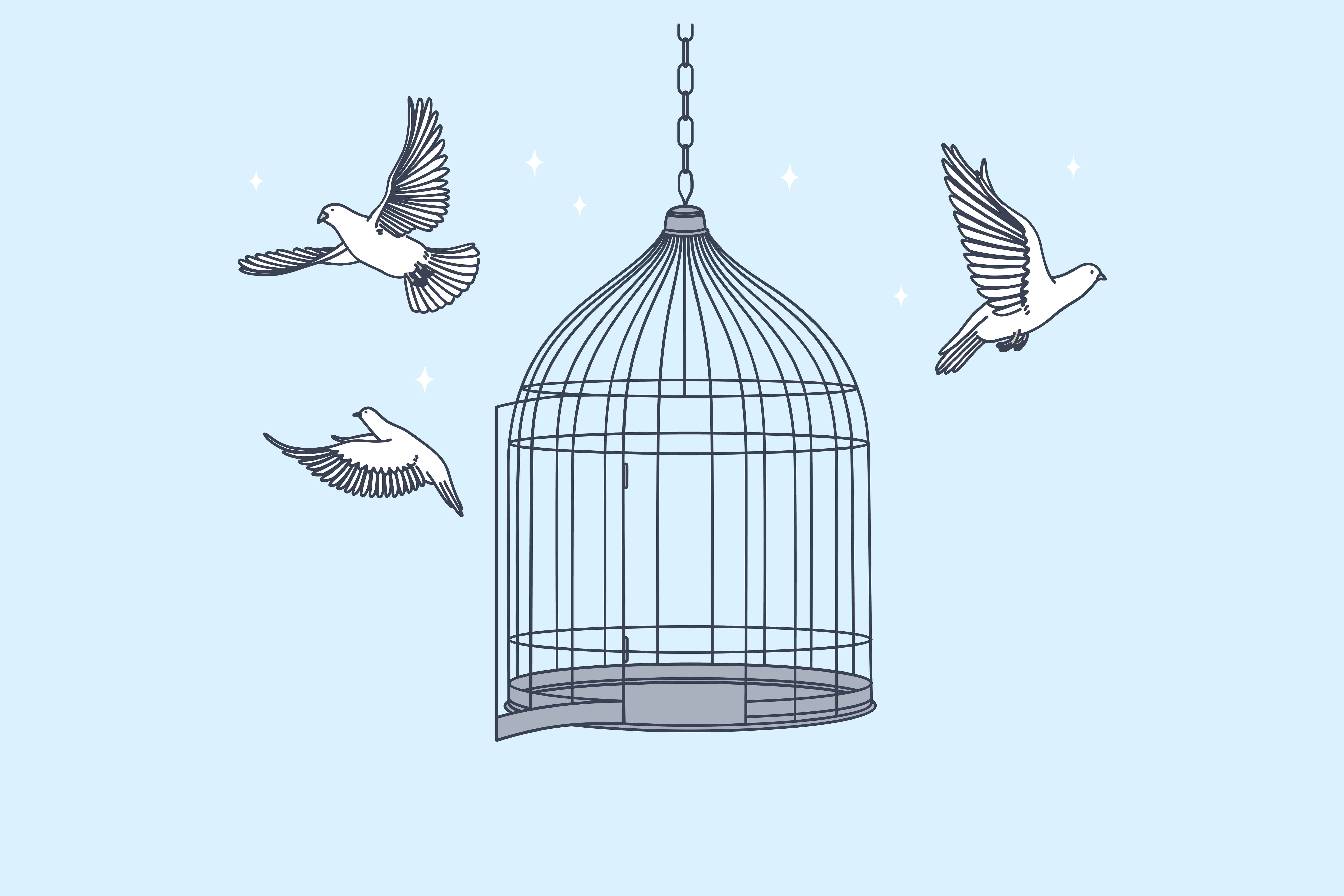 Que votre cage soit dorée ou non, la liberté n'a pas de prix! Agissez!